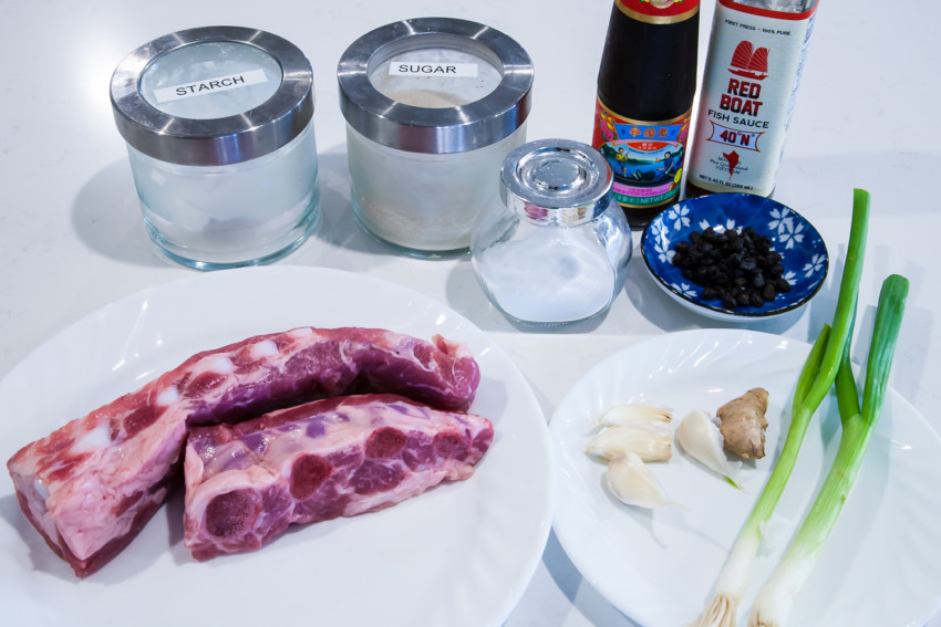 Pork Spareribs with Black Bean Sauce - Ingredients