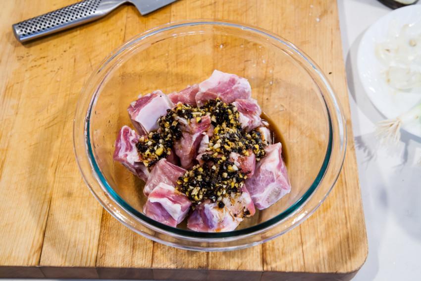 Pork Spareribs with Black Bean Sauce - Preparation