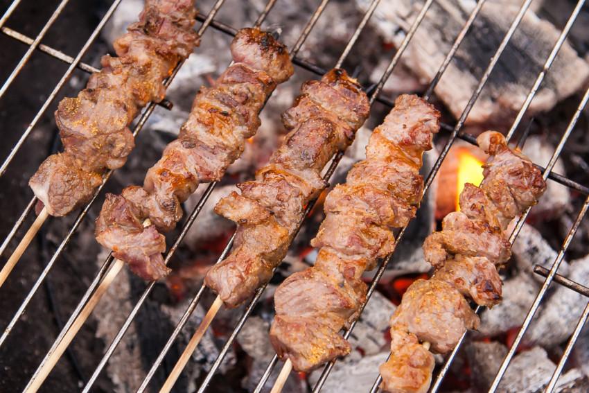Lamb Kebabs - Grilling