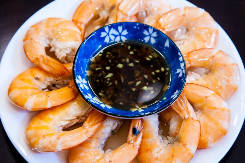 Salt Water Shrimp - Completed Dish