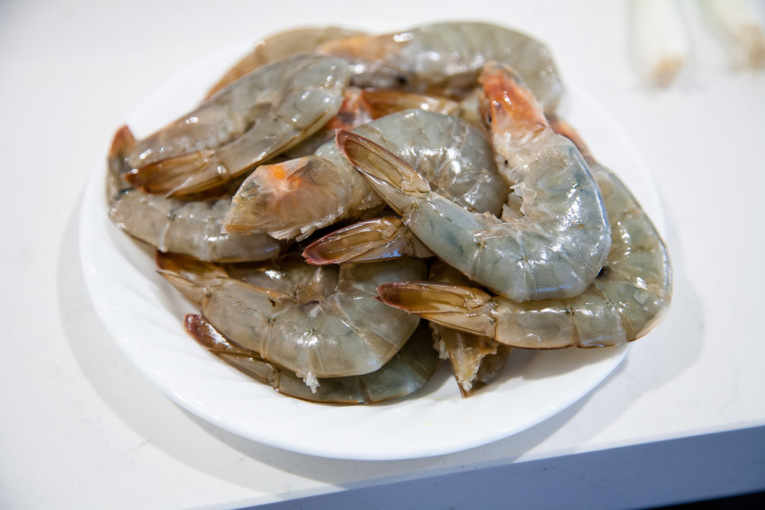 Salt Water Shrimp - preparation