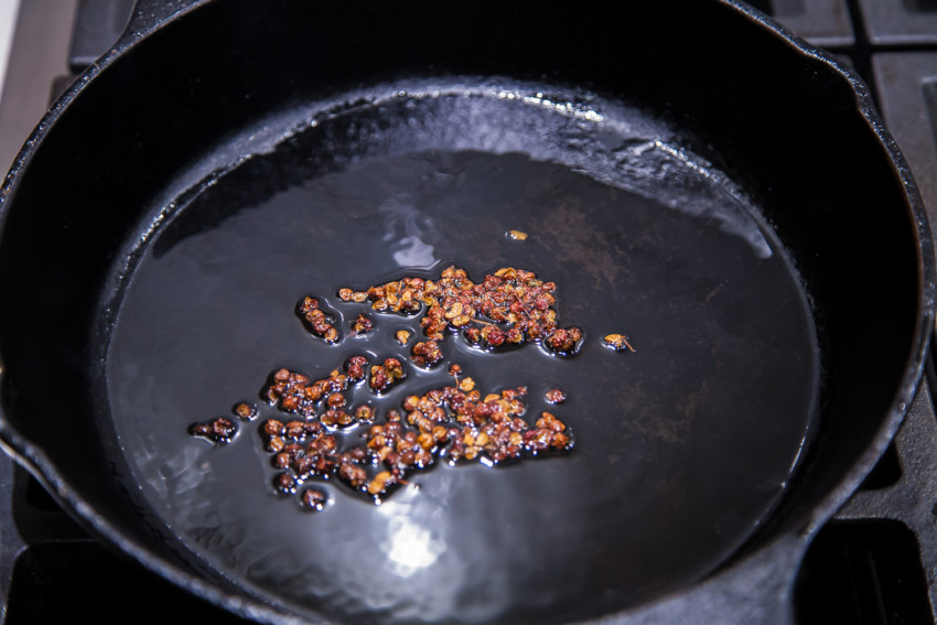 Stem Lettuce Salad - Sichuan Peppercorns