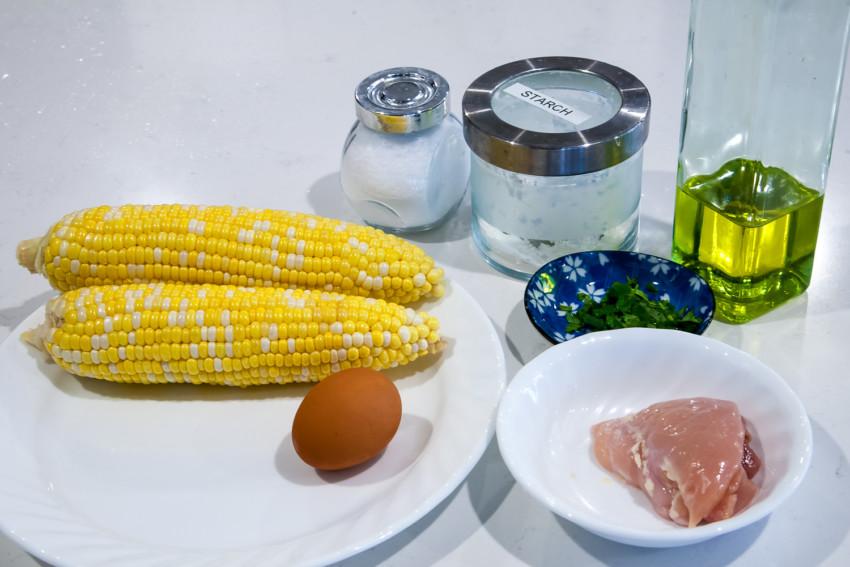 Chicken Corn Egg Drop Soup - ingredients