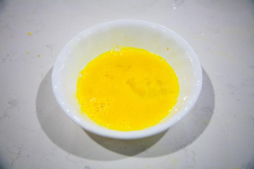 Chicken Corn Egg Drop Soup - beaten egg