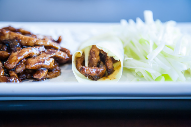 Sauteed Pork Julienne with Sweet Bean Sauce - Completed Dish