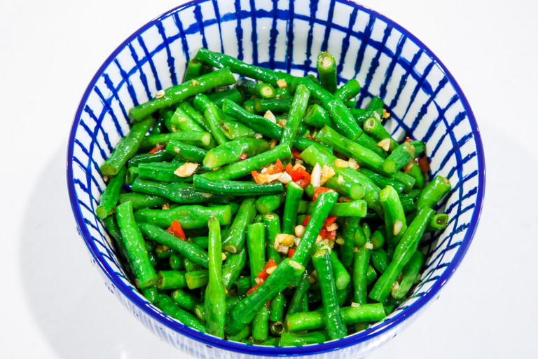 Chinese Long Bean Salad - completed dish