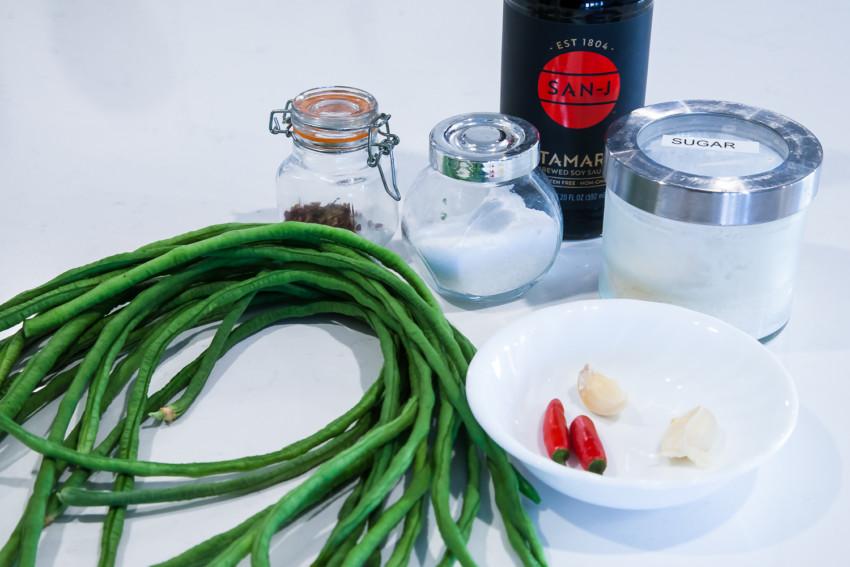 Chinese Long Bean Salad - ingredients