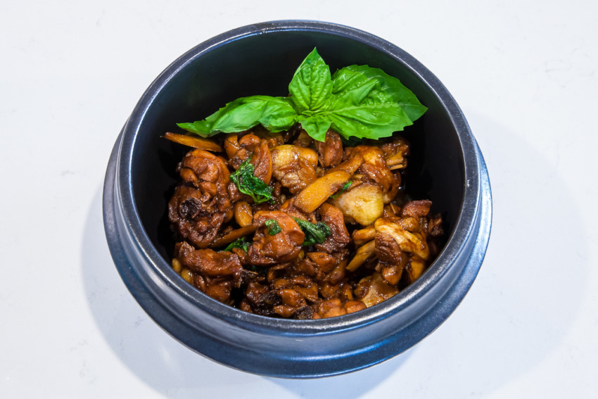 Taiwanese Three Cup Chicken - Completed Dish