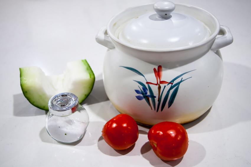 Winter Melon Tomato Pork Bone Soup - Ingredients