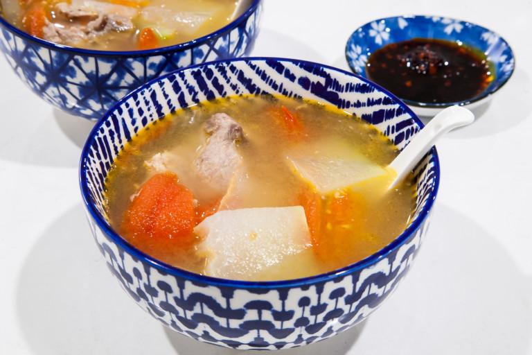 Winter Melon Tomato Pork Bone Soup - Completed Dish