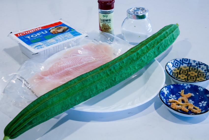 Luffa Fish Fillet Tofu Stew - Ingredients