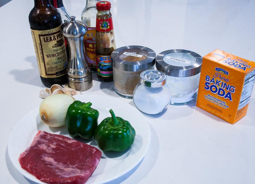 Pepper Beef - ingredients