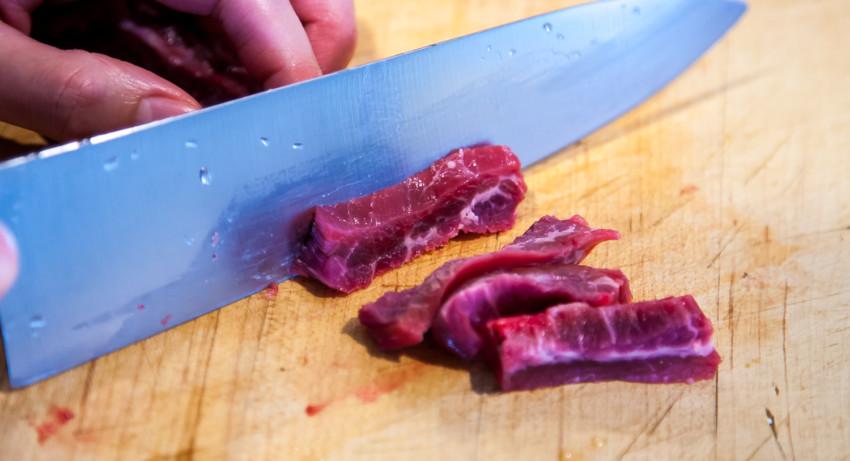 Pepper Beef - Slicing beef