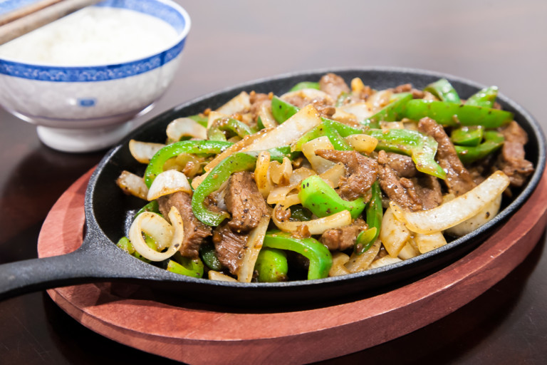 Pepper Beef - completed dish