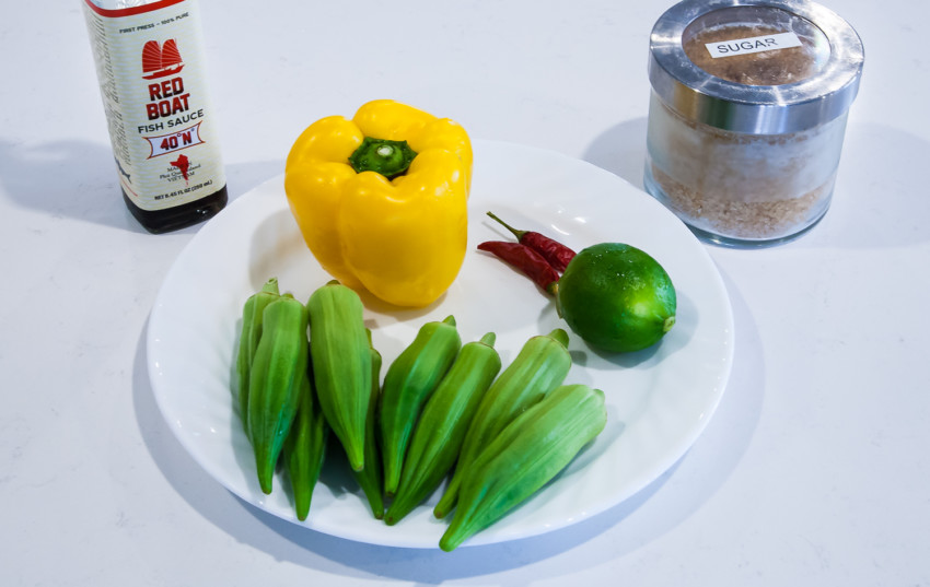 Thai Okra Salad - ingredients