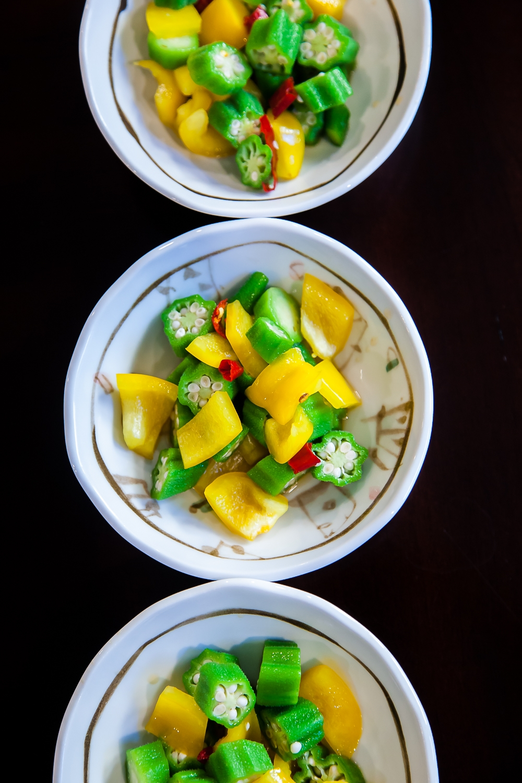 Thai Okra Salad - completed dish