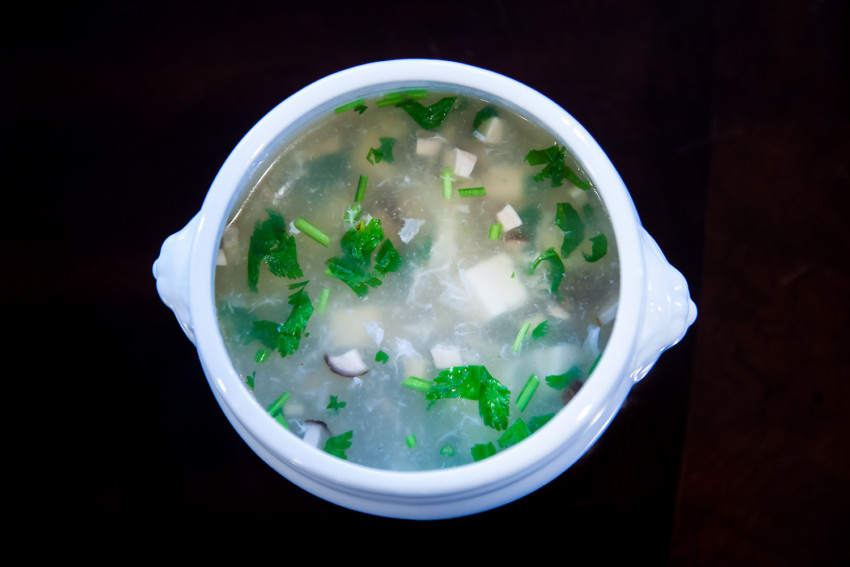 West Lake Soup - Completed dish
